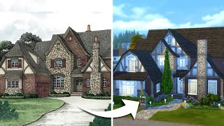 I tried to recreate this mansion in The Sims 4