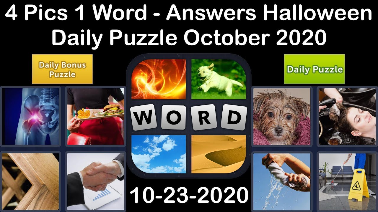 4 Pics 1 Word - Halloween - 23 October 2020 - Daily Puzzle + Daily Bonus Puzzle - Answer-Walkthrough