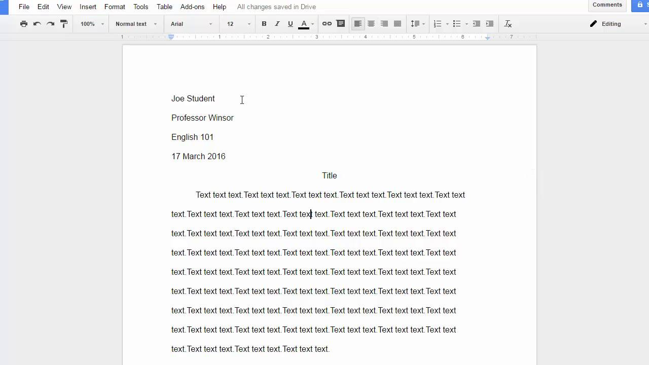 mla format for paper using google docs saving as word format mla format for paper using google docs saving as word format