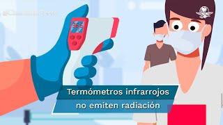 El uso de termómetros infrarrojos evita el contacto entre personas con el fin de que las probabilidades de contagios al momento de un chequeo sean mínimas; éstos no emiten radiación ni afectan la piel, los ojos ni las neuronas