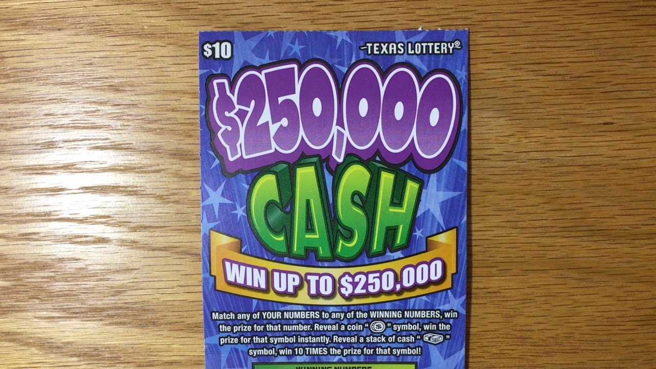 1x 10 250 000 cash tx lottery scratch off youtube