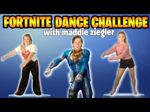 FORTNITE DANCE CHALLENGE: DANCE MOMS vs OLYMPIAN featuring MADDIE ZIEGLER  SHAWN JOHNSON