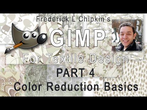 GIMP for Textile Design Part 4 - Color Reduction Basics