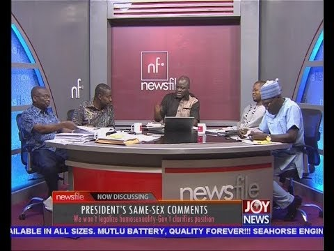 PRESIDENT'S SAME-SEX COMMENTS - Newsfile on JoyNews (2-12-17)
