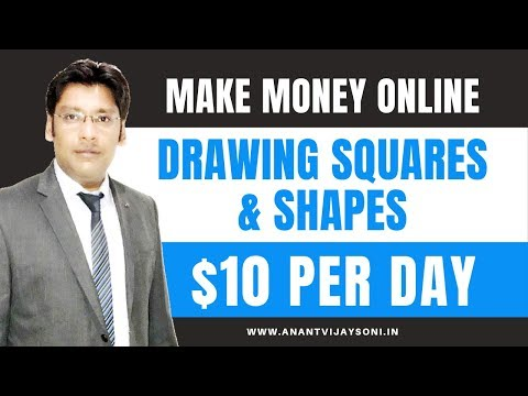 Make Money Drawing Squares & Shapes [Easiest Online Jobs for Beginners]