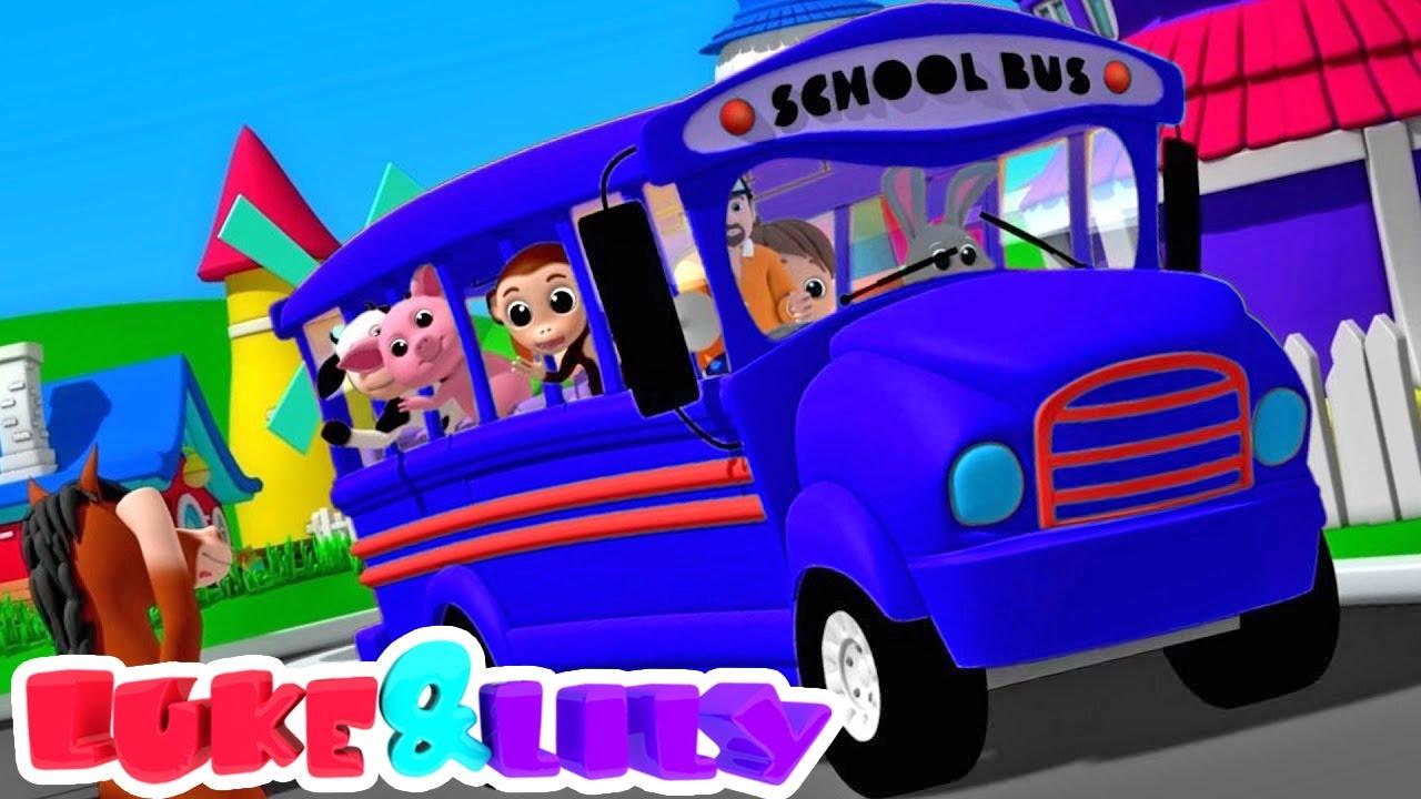 Ruote sull'autobus | Cartoni animati | Filastrocche | Luke and Lily Italiano | Canzoni per bambini