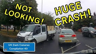 UK Dash Cameras - Compilation 40 - 2018 Bad Drivers, Crashes + Close Calls