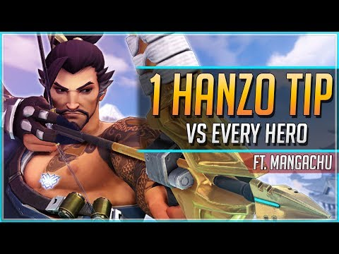1 HANZO TIP for EVERY HERO ft. Mangachu