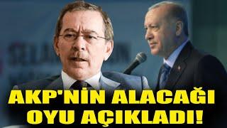 Abdüllatif Şener AKP'nin alacağı oyu açıkladı!