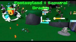 Fantasy Land + nuevas armas + Samurai dragon showcase Dragon simulador Roblox