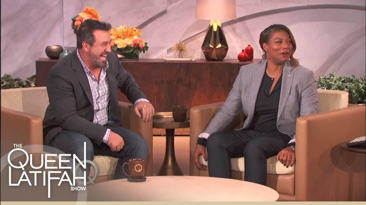Joey Fatone Chows Down | The Queen Latifah Show - YouTube