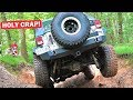 I WASN'T GOING TO UPLOAD THIS... ALMOST ROLLED THE JEEP OFF ROADING! *SCARY*