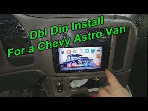 Double Din Headunit Install For A Chevy Astro Van