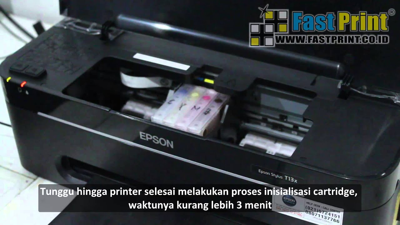 Tutorial Cara Reset Chip Pisah Pada Printer Epson T13x Youtube