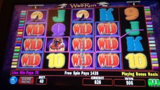 Wolf Run HANDPAY JACKPOT $40 bet high limit slots
