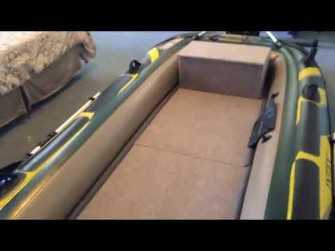 Intex Seahawk 4 Wood Floor Bench Seat Finished Youtube