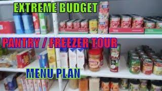 EXTREME BUDGET |  PANTRY AND FREEZER TOUR |  MENU PLAN |  LARGE FAMILY