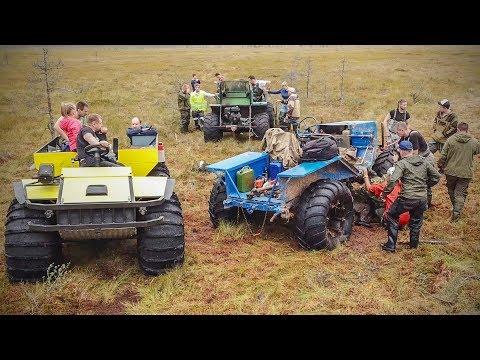 Туда не проедет даже трактор. Эвакуация болотохода