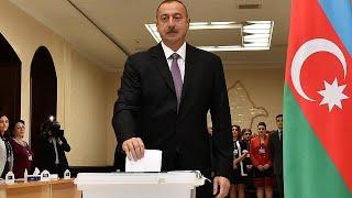 Aliyev votes in Azerbaijan election