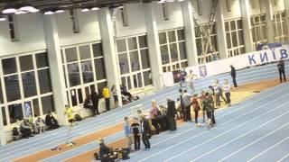 Лёгкая атлетика. Чемпионат Киева. 400м юноши 23.01.15