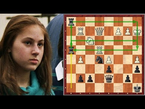 Absolutely Insane Sacrifice By An 11 Year Old Judit Polgar