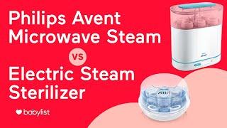 Philips AVENT Sterilizer Comparison: 3-in-1 Electric vs. Microwave Steam