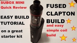Kangertech Subox Mini RBA deck FUSED CLAPTON build and easy build
