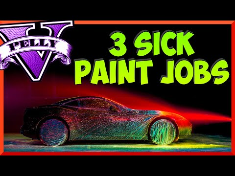 "GTA 5 ""PAINT JOBS"" Best rare paint jobs (GTA 5 PAINT GUIDE) GTA ONLINE SECRET PAINT JOBS"