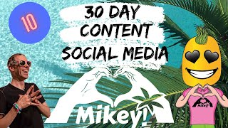 30 day content and social media course 10