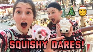 SQUISHY DARES MALL EDITION! FT. HANNAH!