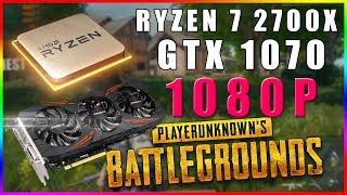 PUBG FPS Test | Ryzen 7 2700x + GTX 1070 (1080p)