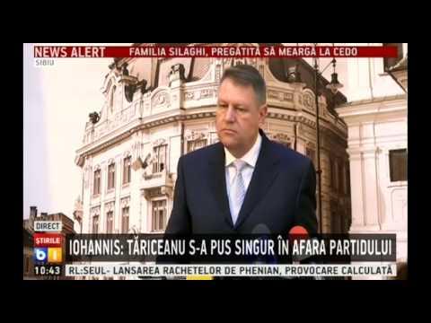 Iohannis considera regretabila demisia lui Tariceanu din PNL