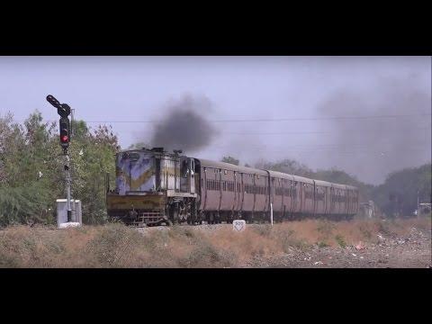 Old, Rickety Yet Rustic Dhasa - Veraval METRE GUAGE Train Taken In Deep Rural Gujarat !!!