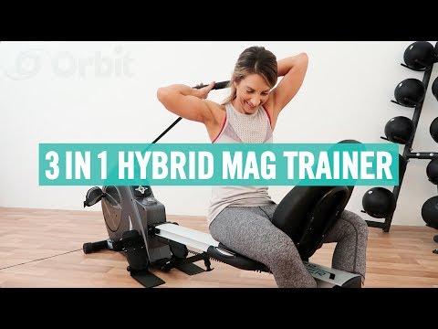 Orbit 3 in 1 Hybrid Mag Trainer | Rower/Recumbent T6510