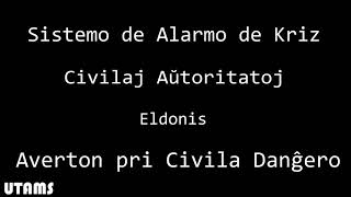 Mini EAS: Civil Danger Warning in Esperanto