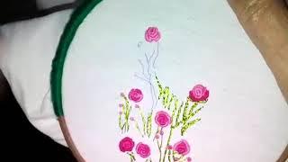 Roseira com ponto haste – Bordado