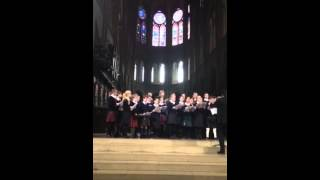 Fettes College Choir Tour 2015 - The Lord is My Shepherd - Notre Dame Cathedral