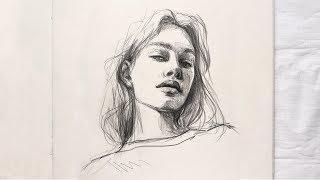 ПРО ПОСТРОЕНИЕ   Портрет девушки карандашом