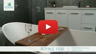 Royale Bathroom Vanity Ceramic Basin Thick Stone Top 1500 [fontaineind.com.au]