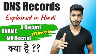 DNS Records Explained in Hindi 🔥 - What is DNS & DNS Record Types 🤔
