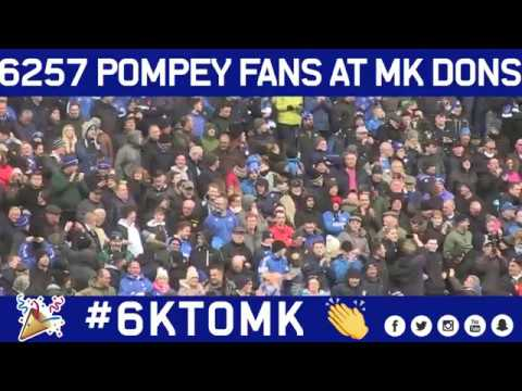 Pompey take 6257 fans away to MK Dons