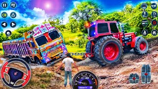 Offroad Traktör Çekme Simülatörü - Gerçek Kargo Zincirli Kamyon Çekme Kurtarma - Android GamePlay # 2
