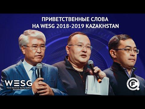 Приветственные слова на WESG 2018-2019 Kazakhstan