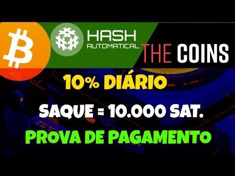 HashAutomatical | 10% Diário Forever | TheCoins | 5% A Cada 12 Horas | Prova De Pagamento Bitcoin