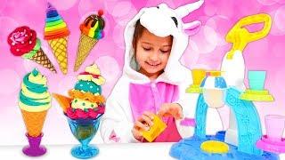 Детские видео игры - Мороженое для Милой Единорожки! – Лепим из пластилина Плей До