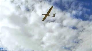 FVK Modell ASW24 radio control glider maiden flight at Maes Knoll, near Bristol