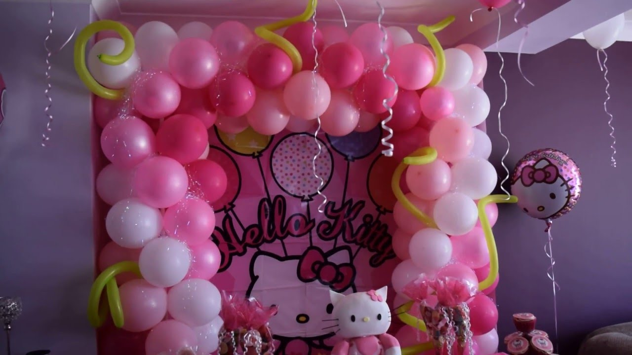 Hello Kitty Party Made Out Of Balloons Youtube