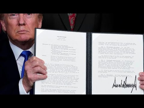 US President Trump signs trade memo against Chinese imports