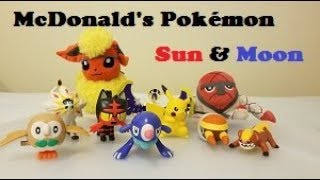 Unboxing: McDonald's 2017 Pokemon Sun & Moon Happy Meal Toys