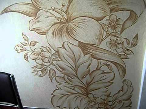 Pintura em decorativa em parede por - Pintura decorativa para paredes ...